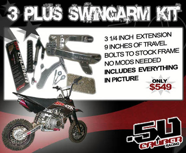 50 Caliber extended swingarm for Honda xr50 crf50 xr-50 crf